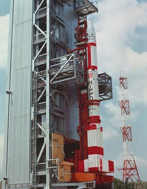 試験用ロケットETV-1号写真